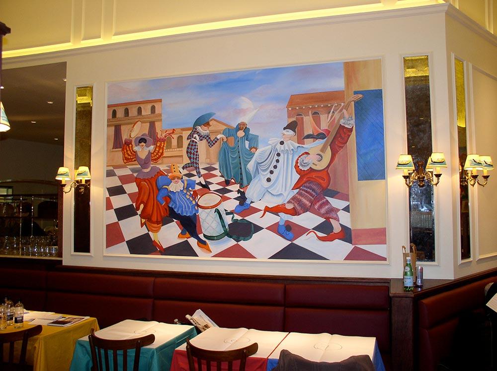 Mural of drapes